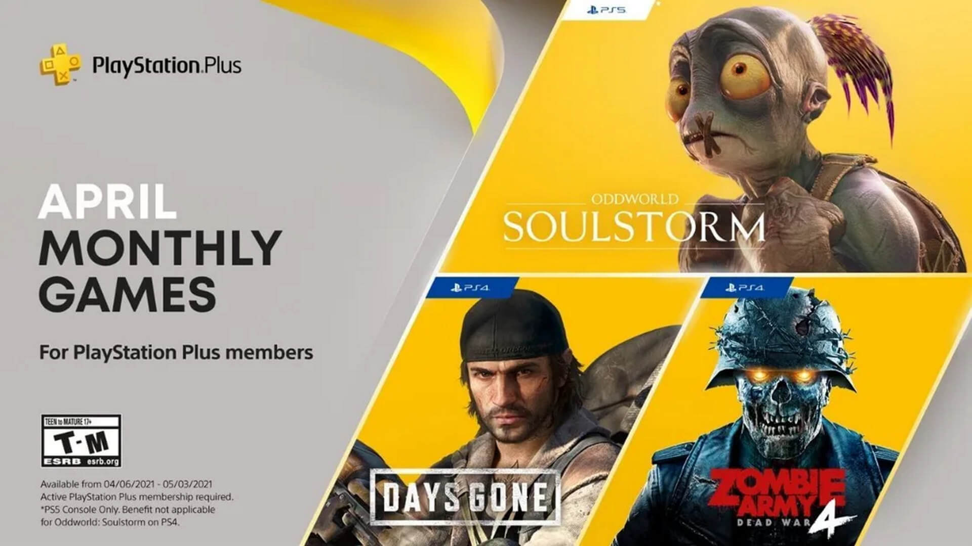 PlayStation Plus April 2021 Announcement