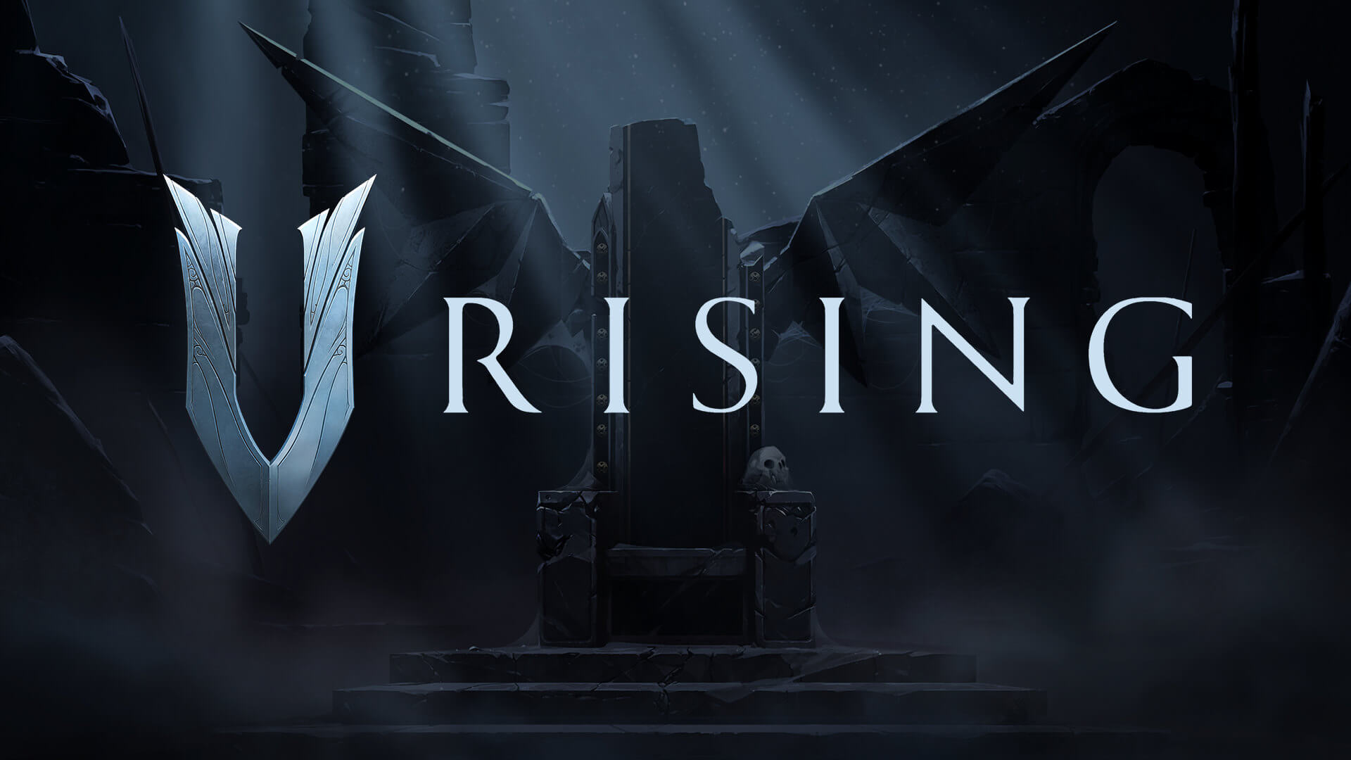 V Rising Logo and Splash Art
