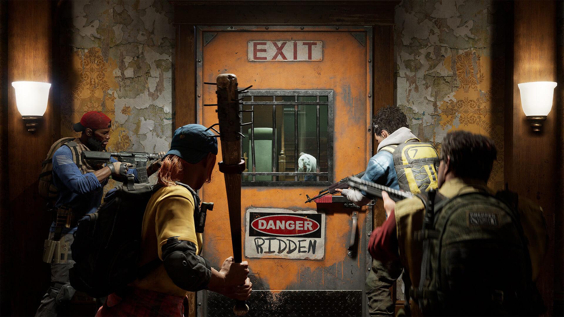 Back 4 Blood Cleaners Screenshot Reinforced Door