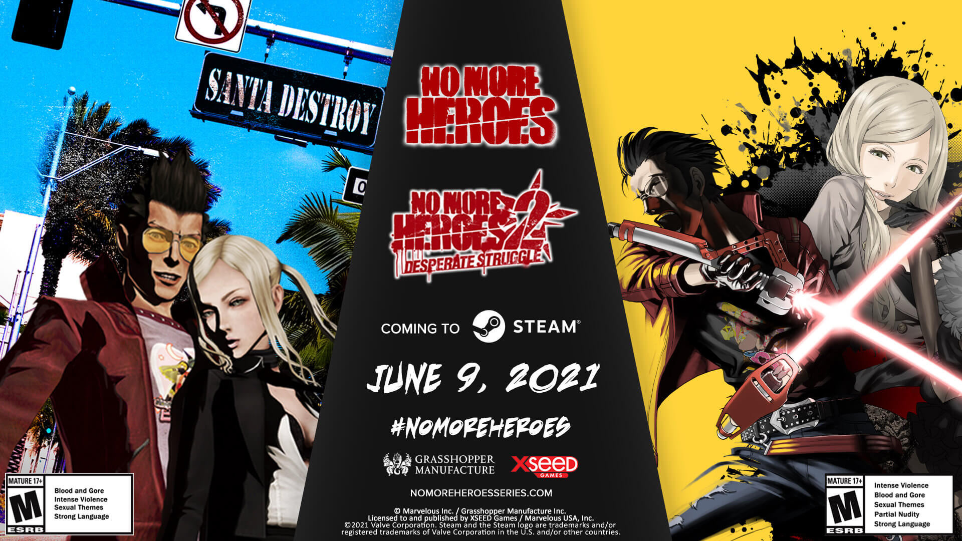 No More Heroes Steam Announcement