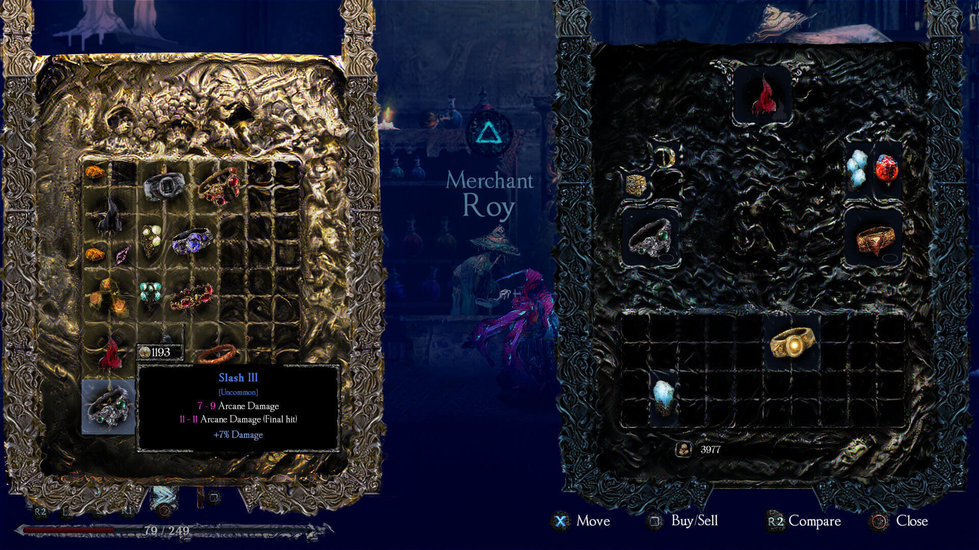 Source of Madness Inventory Screenshot
