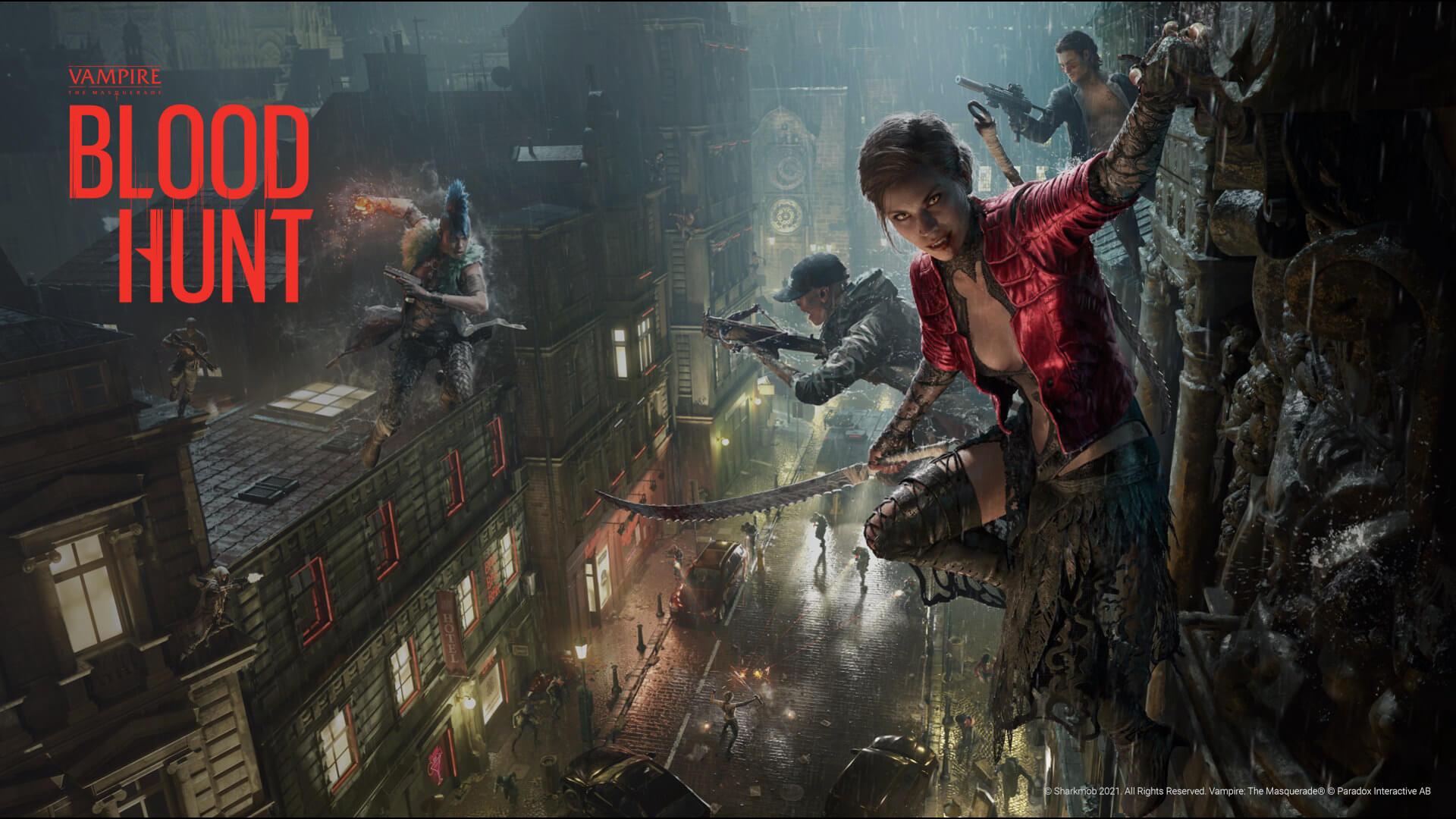 Vampire the Masquerade: Bloodhunt Key Art