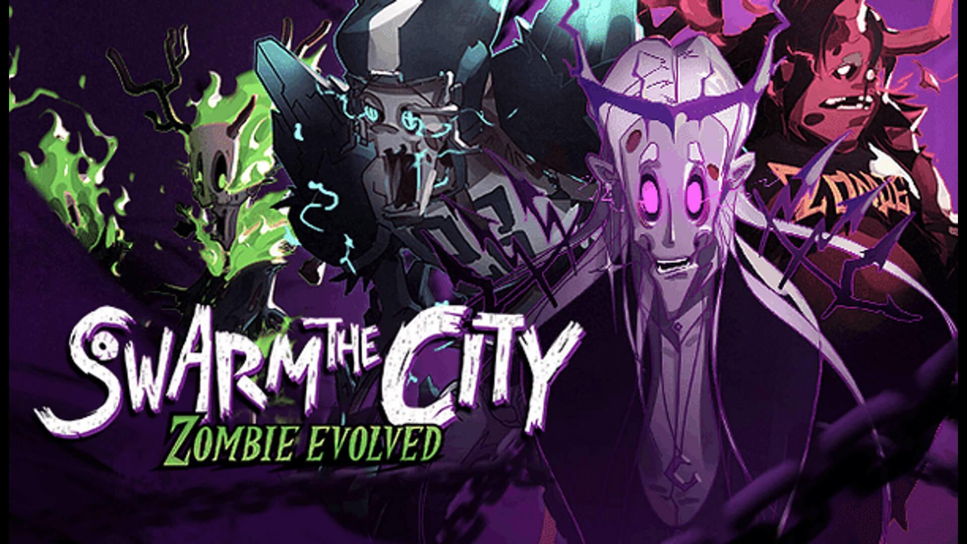 Swarm the City: Zombie Evolved Key Art Logo
