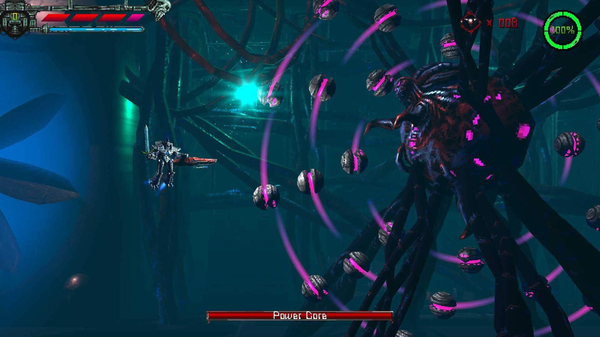 Valfaris: Mecha Therion Power Core boss