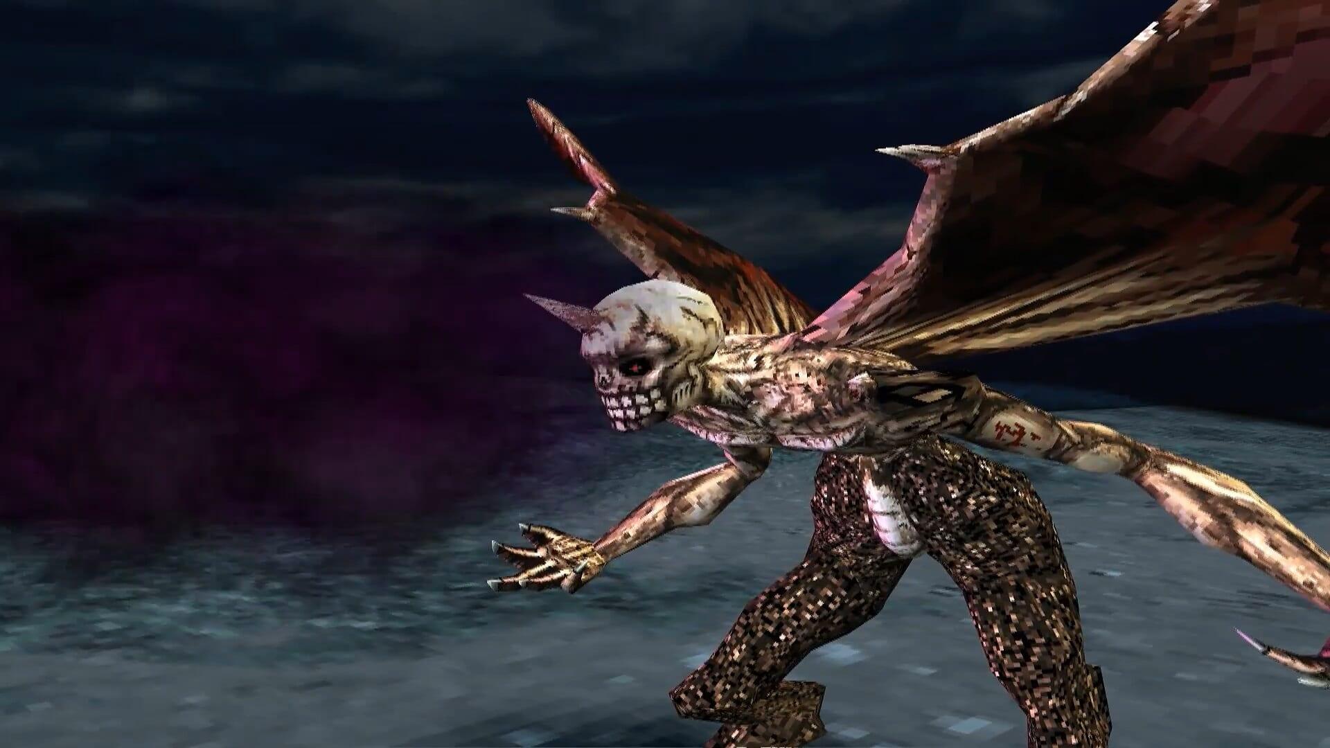 shadow hearts - skeletal demon breathing poison gas