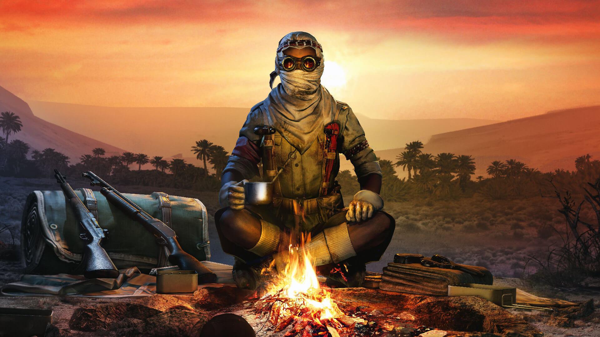 Zombie Army 4 Season 3.3 outfit Shola Desert Rat