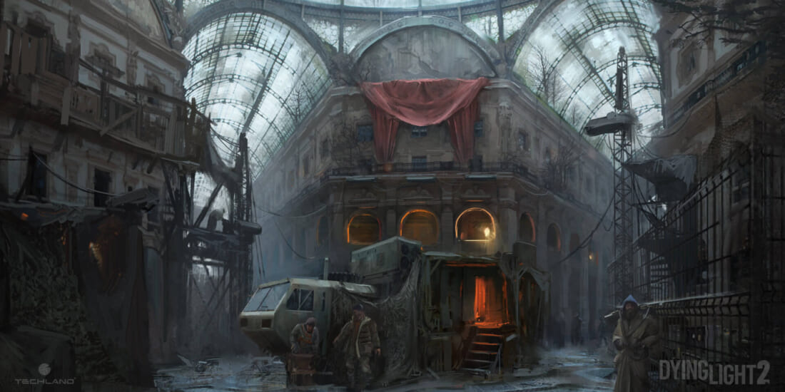 Sounds of the Dying City Dying Light 2 Stay Human Mall concept art