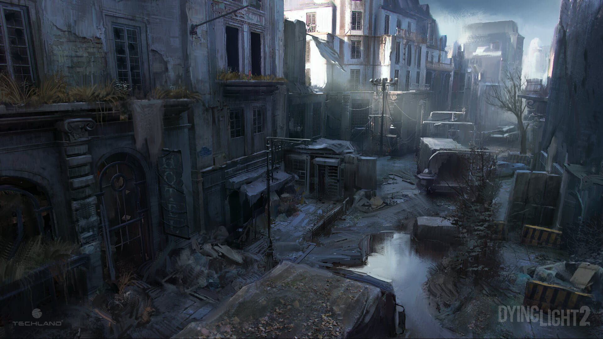 Sounds of the Dying City Dying Light 2 Street concept art