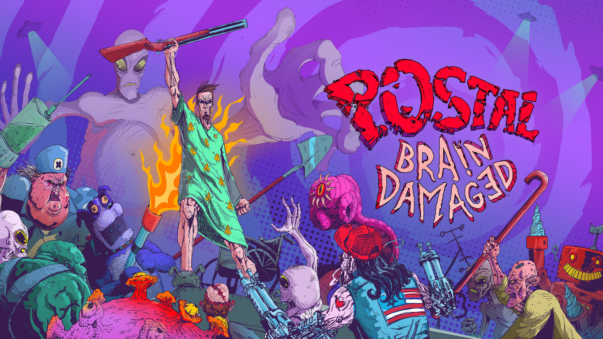 Postal: Brain Damaged Announced Key Art